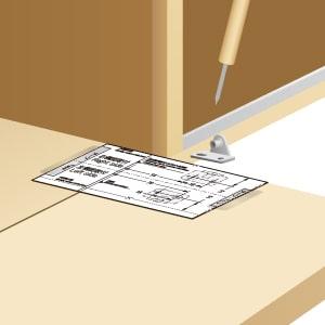 座金も付属のテンプレートを置くだけで取付位置が分かる