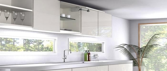 キッチンの吊戸棚のステーも簡単取付