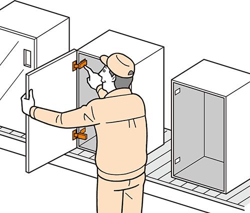 シンプル取付機能&取付調整機能 使用例