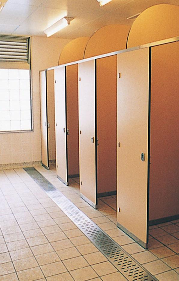 トイレブース金物の施工例・採用事例