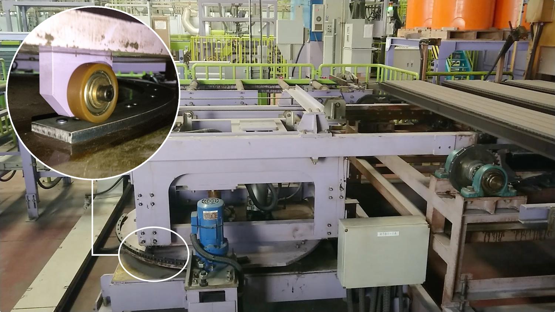 工場設備(90度回転装置)のガイド