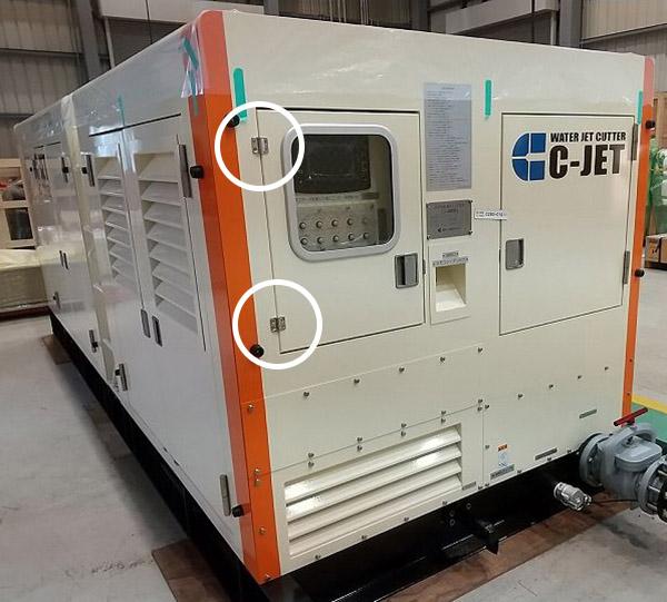 ステンレス鋼製トルクヒンジ PHCS型の施工例・採用事例