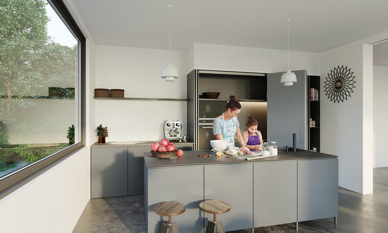 住宅 キッチン収納