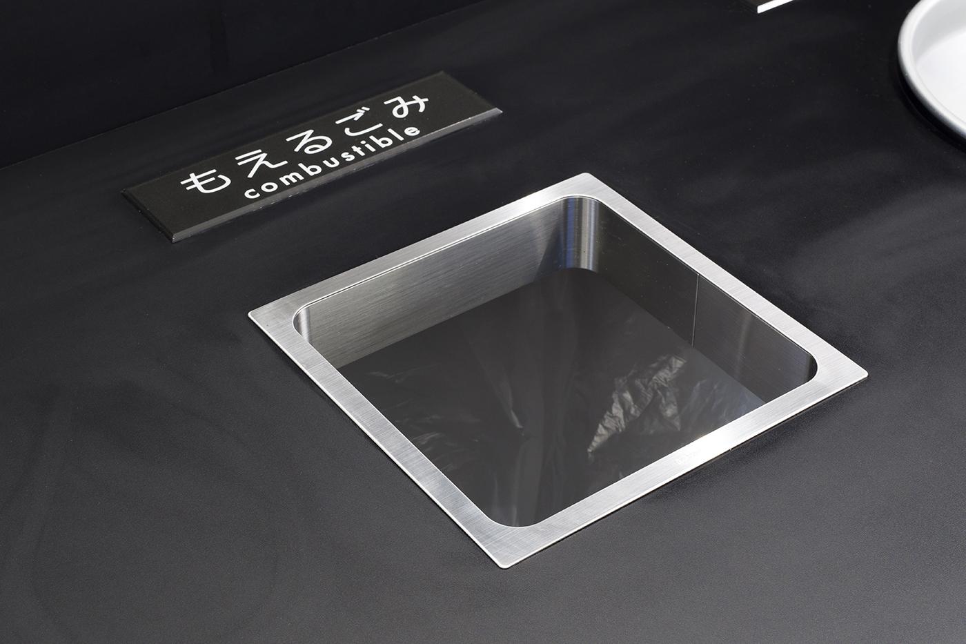 ステンレス鋼製 屑入投入口 角型AN-KH020-HLの施工例・採用事例