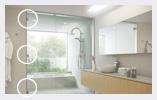 シャワーブース用ガラス丁番